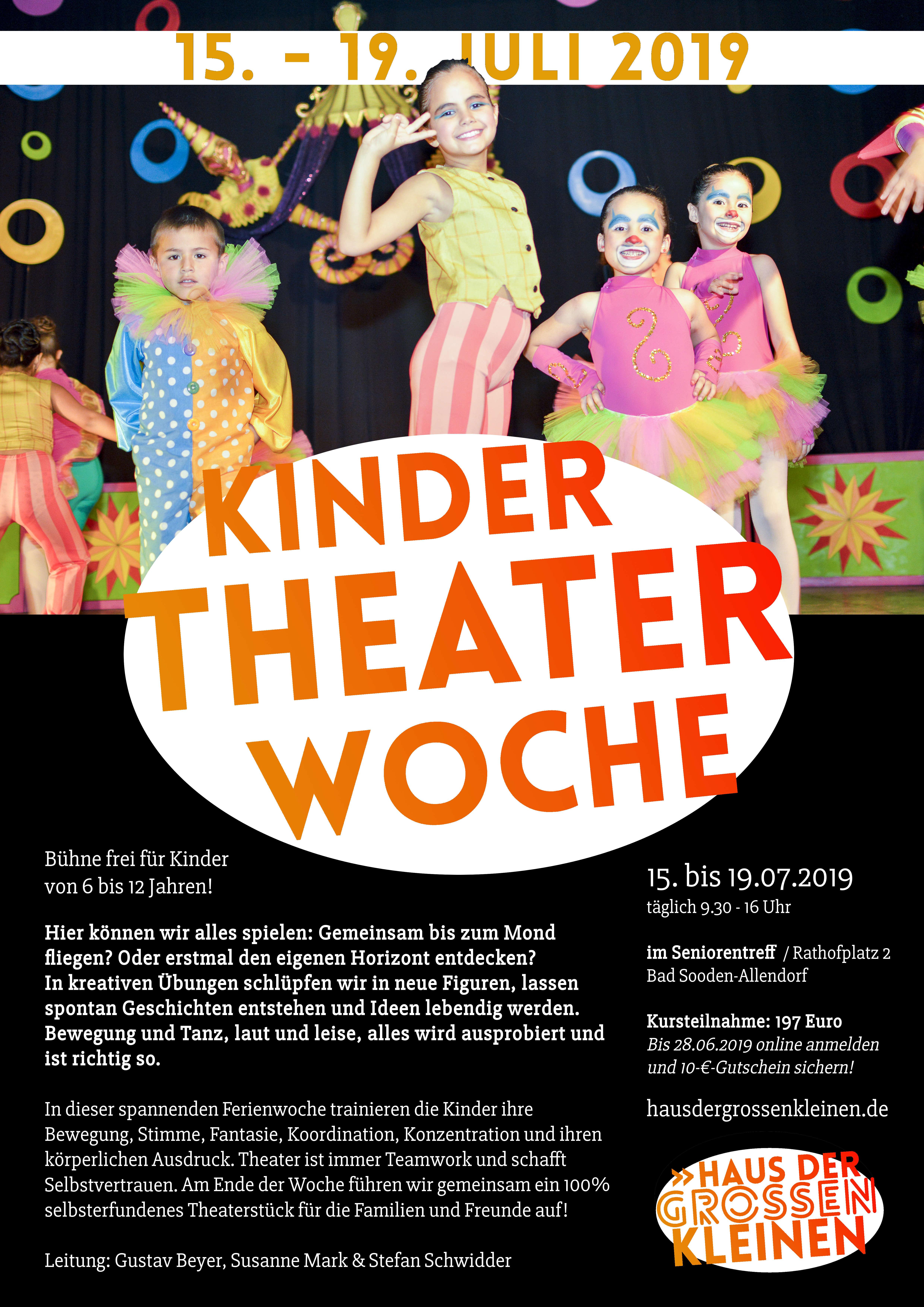 KinderTheaterWoche 2019 im Haus der großen Kleinen, Bad Sooden-Allendorf