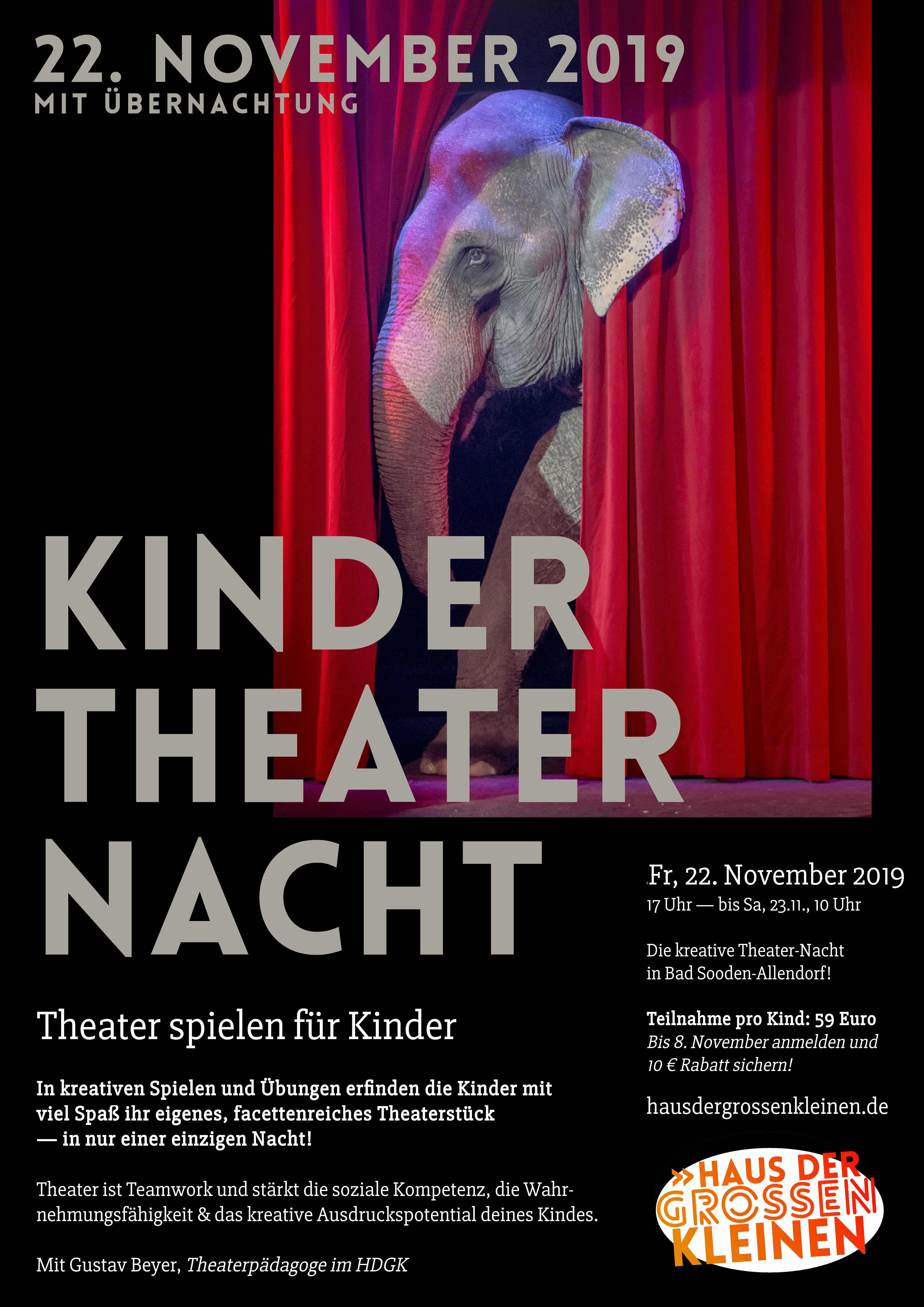 KinderTheaterNacht 2019 im Haus der großen Kleinen, Bad Sooden-Allendorf - jetzt anmelden!